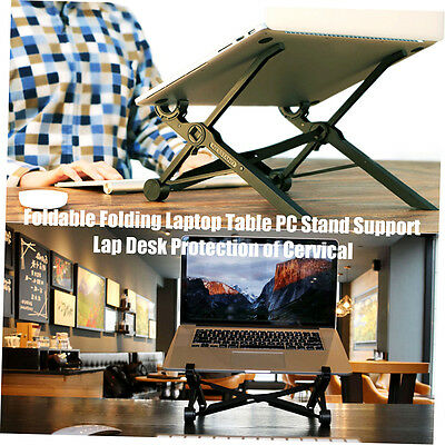 Foldable Folding Laptop Table PC Stand Support Lap Desk Protection of Cervical A