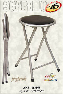 Stool metal folding cm45 soft colorful
