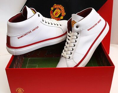 Manchester United Fc Official Adult Shoes(White)