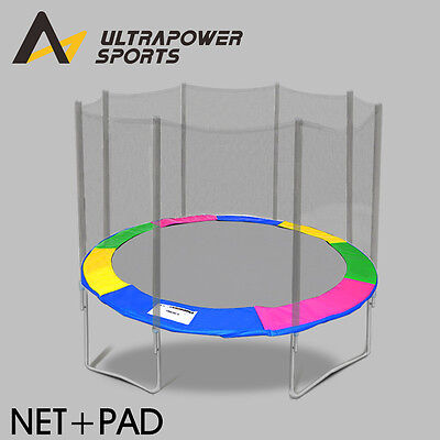 ULTRAPOWER 8-14 FT Replacement Trampoline Safety Net Enclosure Padding Cover Mat