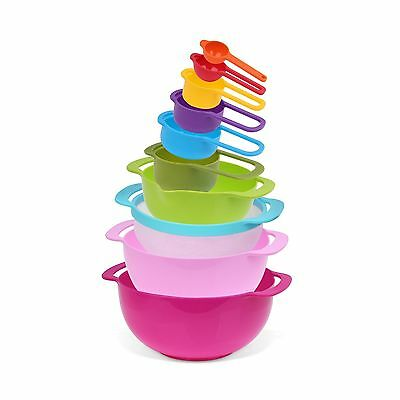 Nuovoware Mixing Bowls Set Premium 10 PCS Colorful Plastic Versitile Mixi... New