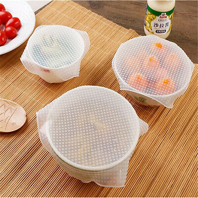 1/3pcs Set DIY Reusable Silicone Food Fresh Keeping Wrap Stretch Seal Cover Hot