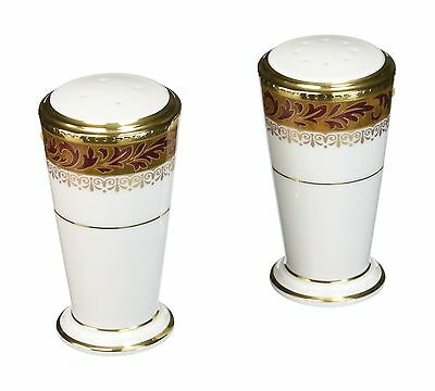 Noritake Xavier Gold Salt & Pepper Shakers New