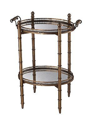 Sterling 6043717 Tyrella Metal/Antique Mirror Transitional Tray Table 32-... New