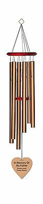 Chimesofyourlife fa-heart-35-bronze Father Heart Memorial Wind Chime 35-I... New