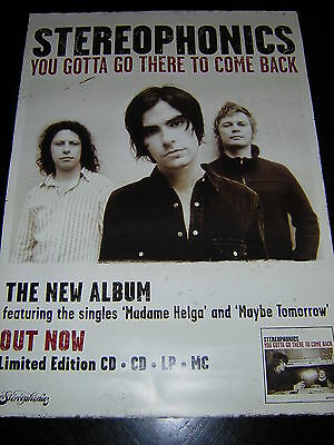 Original Stereophonics Promotional Poster - You Gotta Go There To Come Back
