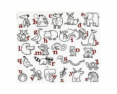 Modern Twist Placemat Alphabet Animals New