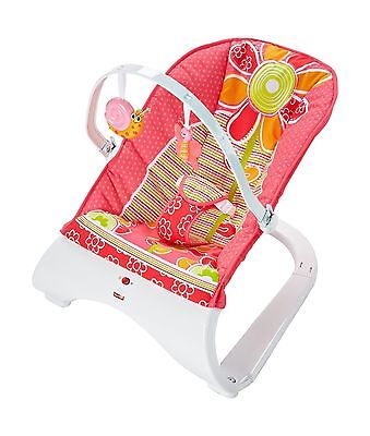 Fisher-Price Comfort Curve Bouncer-Floral Confetti New