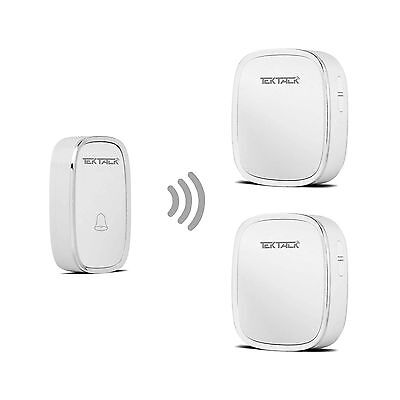 Tektalk Wireless Metallic Edge Decored Door Bell Chime and Push Button wi... New