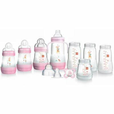MAM Easy Start Self Sterilising Anti Colic Starter Set, Pink, Small