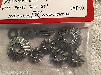 Kyosho Diff Bevel Gears Set New In Packet - Inferno Mp9, Mp9 Tki, If402