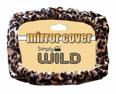 Leopard Print Car Interior Rear View Mirror Elasticated Cover Easy To Use