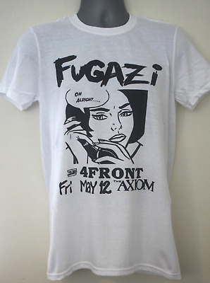 fugazi t-shirt gig flyer slint mcklusky bad brains dag nasty bikini kill