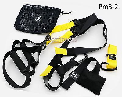 SUSPENSION TRAINING BODY TRAINER FITNESS BODYWEIGHT Gym Straps Same as TRX