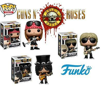 GUNS N ROSES FUNKO POP VINYL COMPLETE SET SLASH AXL ROSE DUFF McKAGAN BRAND NEW