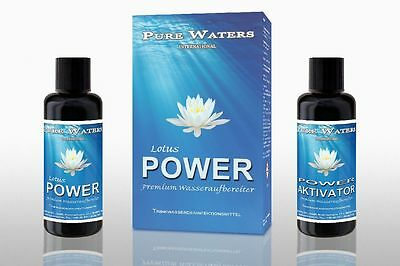 Lotus POWER Water treatment Chlorine dioxide Disinfection Violet glass 2 x