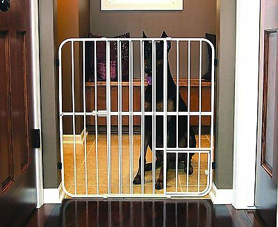 Carlson Extra Tall 81cm Step Over Expandable Pet Gate, with Small Pet Door