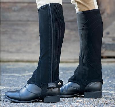 Dublin Easy-Care Half Chaps,Ladies/Childs,All Sizes,Black or Brown, Machine Wash