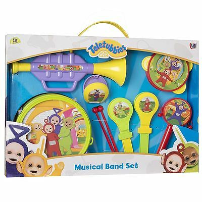 Teletubbies Musical Band Set Fun Family Kids Musical Instrument Drum Maracas Toy