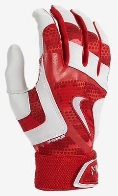 new mens M NIKE baseball MVP elite pro batting gloves red/grey $60