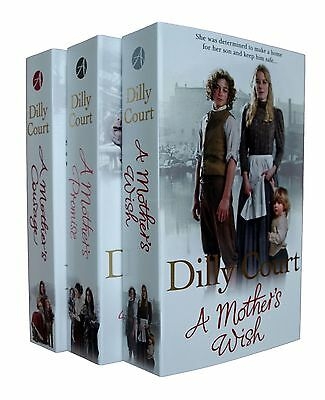 Dilly Court 3 Books Romance Family Saga Mother Courage Promise Wish New