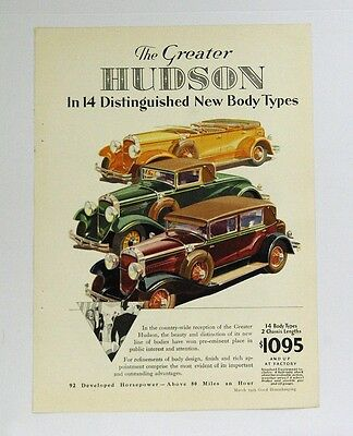 Hudson Automobile Ad 1929 Pet Evaporated Milk Ad On Back