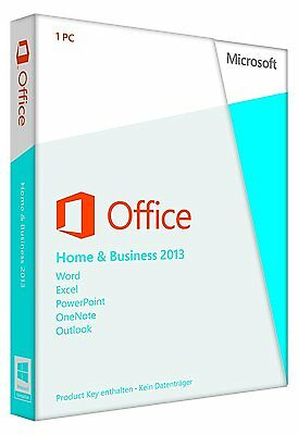 Microsoft MS Office 2013 Home and Business 2013 Vollversion 32/64 Bit T5D-01628
