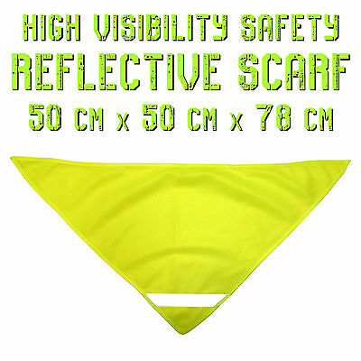 Green Yellow Hi Vis Safety Reflective Scarf Outdoor Sports Active PPE