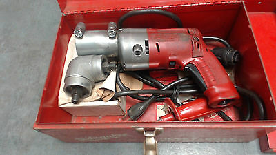 Milwaukee Heavy Duty Magnum 0234-1 w/right angle/steel case