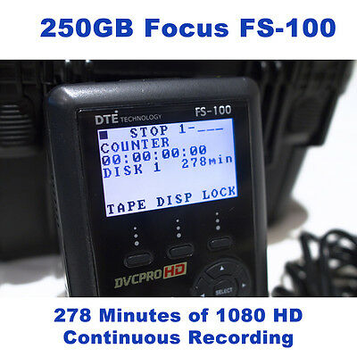 Focus FireStore DR-HD100 250GB 4.5 hrs DTE Recorder for Panasonic HVX200 Camera