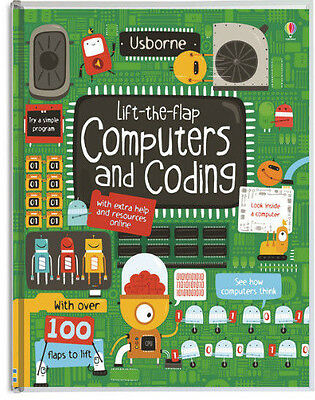 Usborne Lift The Flap Computers and Coding (bb) 100+ flaps,simple program NEW