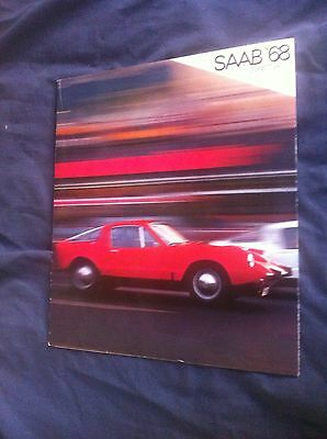 1968 SAAB Sonett Sports Car Color Brochure Catalog Prospekt