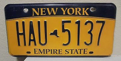2012 New York  Empire State Gold License Plate Hau 5137 Used