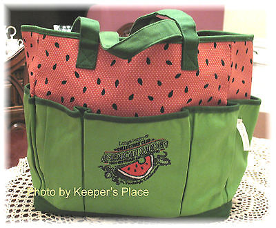 Longaberger COLLECTORS CLUB Watermelon Homestead Celebration Limited Ed Tote New