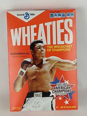 Wheaties Muhammad Ali Boxing Champion Collectible Cereal Box 2012 Empty