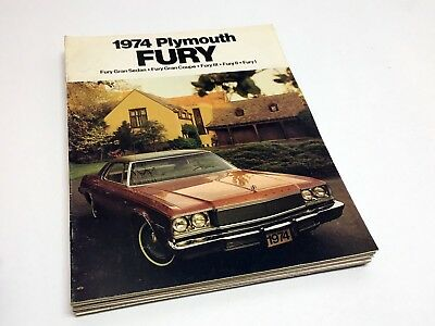 1974 Plymouth Fury I II III Gran Coupe Fury Sedan Brochure