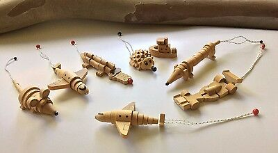 Wooden animals, airplanes, boat and car - Kinder Surprise lot of 8 - 1998-1999