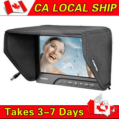 5D-III FEELWORLD FW-689 HD Camera Field Monitor 1080P HDMI Video Peaking Filter