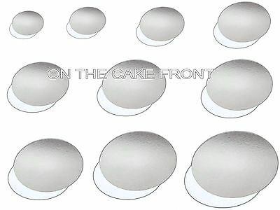 ROUND CAKE CARDS 1.5mm Board 3,4,5,6,7,8,9,10,11,12 Inch Silver White Reversible