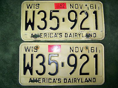 1961 Wisconsin License Plates