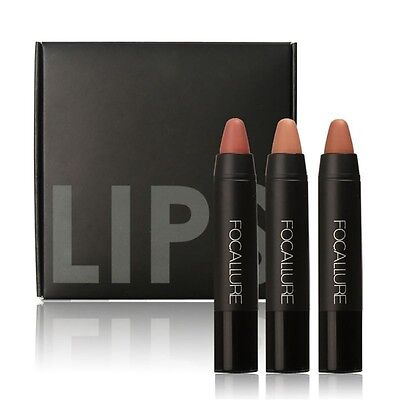 Coffret 3 Crayons A Levres Velvet Nude Focallure ! Neuf!
