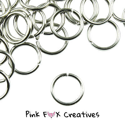 500 EXTRA STRONG SILVER PLATED JUMP RINGS FINDING 4,5,6,7,8,10mm CRAFT JEWELLERY