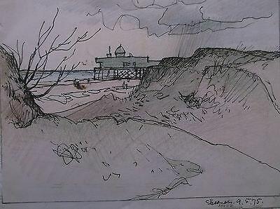 COLOURED GRAPHITE DRAWING by FREDERICK GEORGE WILLS 1901-1993 R.I. SKEGNESS