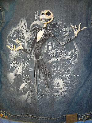 New Disney Nightmare Before Christmas Jean Jacket Mens Size L Large