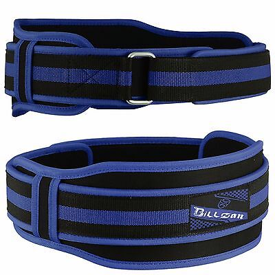 Weight Lifting Back Belt Neoprene Double Support Workout Gym Fitness Brace BLUE