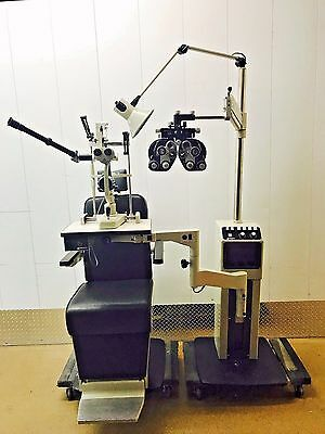 Marco Ophthalmic Exam Lane chair & stand package w/ slit lamp and phoropter