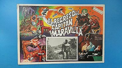 Rare Vintage Original  ADVENTURES OF CAPTAIN MARVEL(1941) Mexican Lobby Card