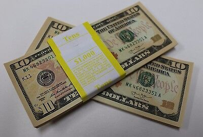 50 New Uncirculated Ten Dollar Bills Two $10 Notes  2013