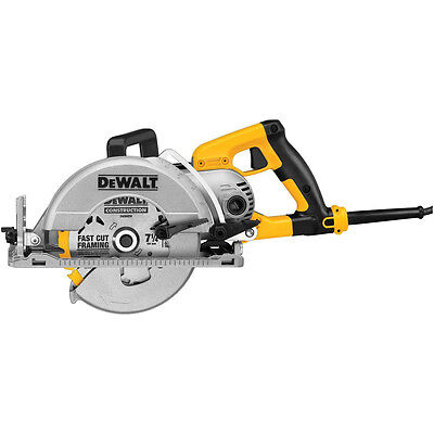 "NEW DEWALT 7-1/4"" Worm Drive Circular Saw w/ Twistlock Plug DWS535T"