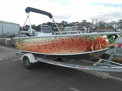 Fish Skins Rainbow Trout   Full Boat Wrap (Includes Left And Right ) Profiles